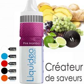 """""""PINK MAMBA"""" E-liquide saveur FRUITÉE de Liquideo-10ml pour e-cigarette"""