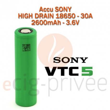 Accus SONY VTC5 18650-30A-2600mAh pour BOX/MODS