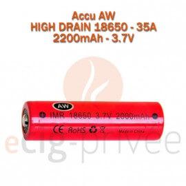 Accus AW IMR 18650-20A-2200mAh pour BOX/MODS