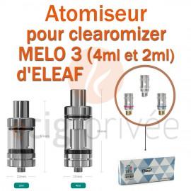 Pack de 5 résistances pour clearomizer MELO 3 de 4ml et 2ml