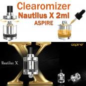 Clearomizer NAUTILUS X d'ASPIRE de capacité 2ml pour e-cigarette