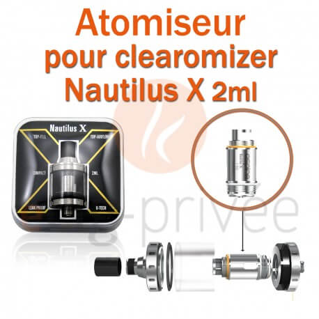 Pack de 5 résistances pour clearomizer ASPIRE X de 2ml