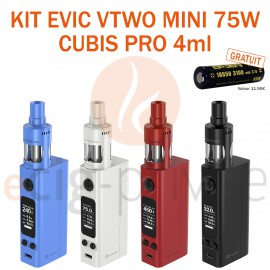 PACK MINI BOX-KIT EVIC VTWO MINI 75W ET CUBIS PRO