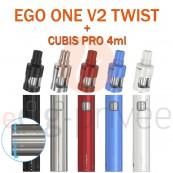 Kit complet EGO MEGA TWIST+ 2300mAh +CUBIS PRO de JOYETECH