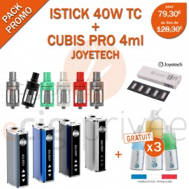 PACK PROMO MINI BOX - ISTICK 40W TC ET CUBIS 3.5ml