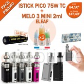PACK PROMO-MINI BOX ISTICK PICO 75W ET MELO 3 MINI