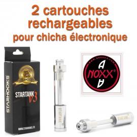2 Cartouches rechargeables Startanks V3 pour Chicha électronique Original AANOXX