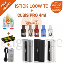 PACK PROMO MINI BOX - ISTICK 100W TC ET CUBIS PRO 4ml
