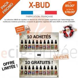 Pack EXCEPTIONNEL sur mesure de 10 e-liquides XBUD dont 10 GRATUITS !