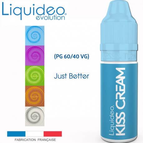 """E-liquide saveur FRESH """"KISS CREAM"""" de Liquideo-10ml pour e-cigarette"""