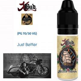 "Saveur ""BLACK STORM"" 10ml-E-liquide COLLECTION XBUD de Liquideo pour e-cigarette"