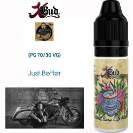 "Saveur ""CRAZY CUP"" 10ml-E-liquide COLLECTION XBUD de Liquideo pour e-cigarette"