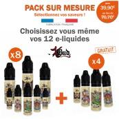 Pack PROMO XBUD-8 e-liquides achetés égale 4 e-liquides gratuits