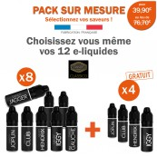 Pack PROMO DANDY-8 e-liquides achetés égale 4 e-liquides gratuits