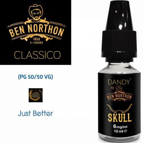 """""""SKULL"""" BY BEN NORTHON 10l-E-liquide COLLECTION DANDY de Liquideo pour e-cigarette"""