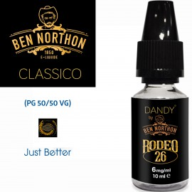"""RODEO 26"" BY BEN NORTHON 10l-E-liquide COLLECTION DANDY de Liquideo pour e-cigarette"