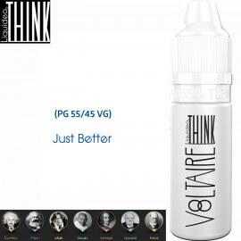 "Saveur ""VOLTAIRE"" 10ml-E-liquide COLLECTION THINK de Liquideo pour e-cigarette"