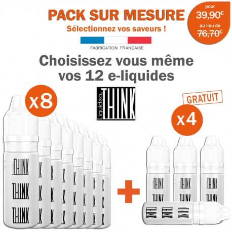 Pack PROMO THINK-8 e-liquides achetés égale 4 e-liquides gratuits