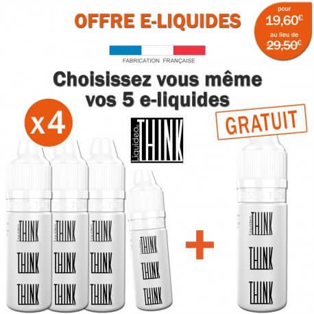 OFFRE PROMO THINK-4 e-liquides achetés égale 1 e-liquide gratuit