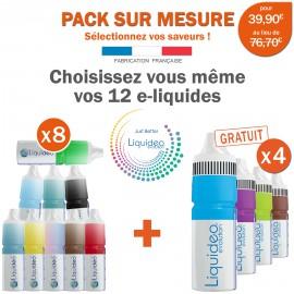 Pack 12 e-liquides toutes saveur dont 4 gratuits