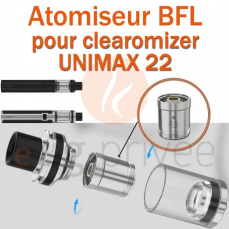 Pack de 5 résistances BFL pour clearomizer UNIMAX 22