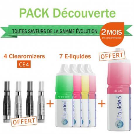 Pack découverte 2 mois saveur Fruité + 4 clearomizers