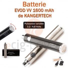 Batterie EVOD VV 1600mAh de chez KANGERTECH pour e-cigarette