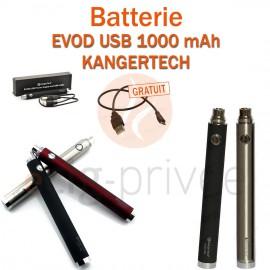 Batterie EVOD USB 1000mAh de chez Kangertech pour e-cigarette