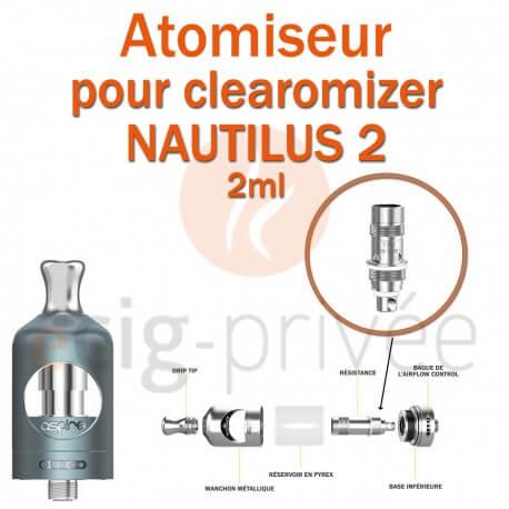 Pack de 5 résistances BVC pour clearomizer NAUTILUS 2-2ml