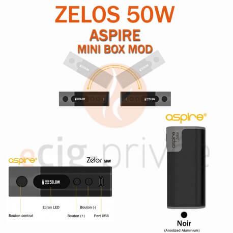 MINI BOX - ZELOS 50W d'ASPIRE pour e-cigarette