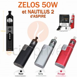 PACK MINI BOX-ZELOS 50W ET NAUTILUS 2-2ml