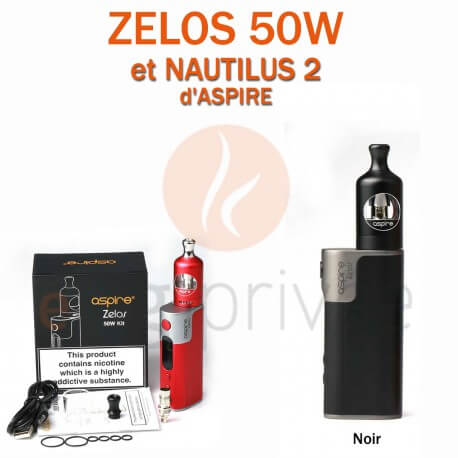 PACK MINI BOX-ZELOS 50W ET NAUTILUS 2-2ml d'ASPIRE