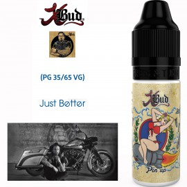 "Saveur ""PIN UP"" 10ml-E-liquide COLLECTION XBUD de Liquideo pour e-cigarette"