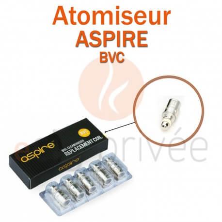 Pack de 5 résistances BVC pour clearomizer ASPIRE