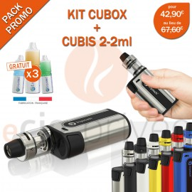PACK MINI BOX-KIT CUBOX 3000mAh ET CUBIS 2-2ml de JOYETECH