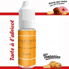 "Tarte à l'abricot" E-liquide TENTATION de Liquideo-10ml pour e-cigarette