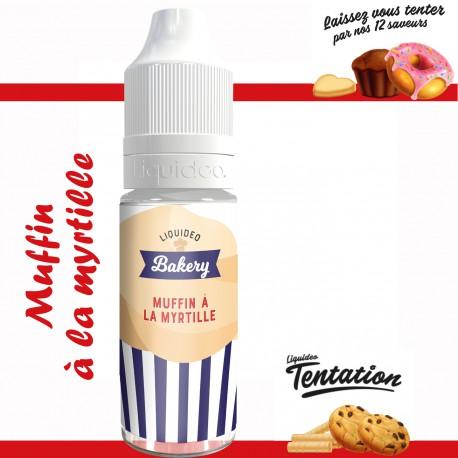 """Muffin aux myrtilles"" E-liquide TENTATION de Liquideo-10ml pour e-cigarette"