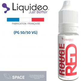 """ROUGE"" E-liquide saveur SPACE de Liquideo-10ml pour e-cigarette"