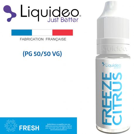 """FREEZE CITRUS"" E-liquide saveur FRESH de Liquideo-10ml pour e-cigarette"