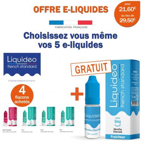 OFFRE PROMO FRENCH STANDARD-4 e-liquides achetés égale 1 e-liquide gratuit