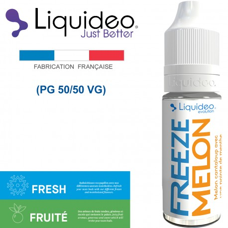 """""""FREEZE MELON-sorbet melon très rafraîchissant"""" E-liquide saveur FRESH et FRUITÉE de Liquideo-10ml pour e-cigarette"""