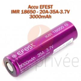 Accus EFEST 18650-20A-35A-3.7V-3000mAh pour BOX/MODS