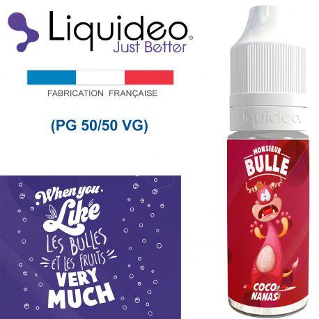 """""""COCO NANAS"""" E-liquide saveur Monsieur BULLE de Liquideo-10ml pour e-cigarette"""