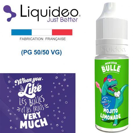 """""""MOJITO LIMONADE"""" E-liquide saveur Monsieur BULLE de Liquideo-10ml pour e-cigarette"""