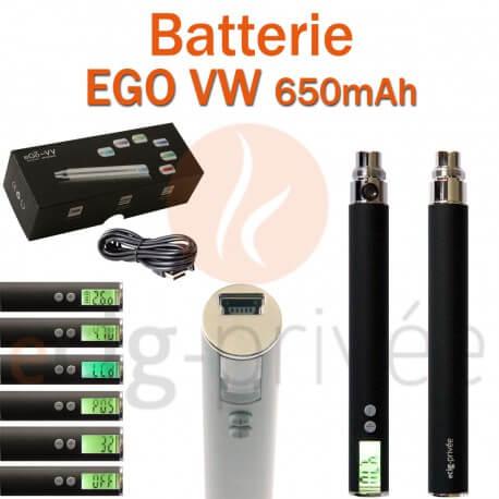 Batterie EGO VW 650mAh pour e-cigarette