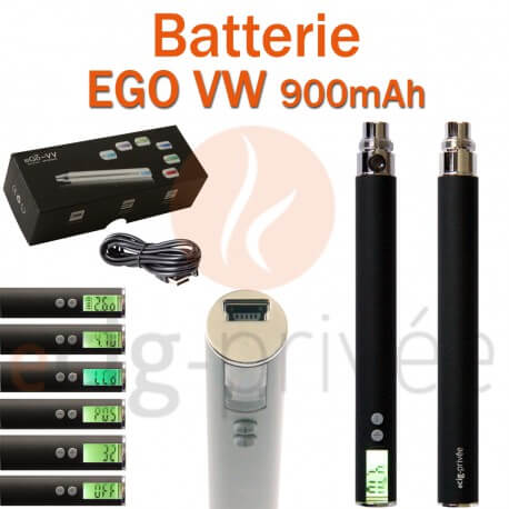 Batterie EGO VV 900mAh pour e-cigarette