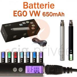Batterie 650mAh EGO VW pour e-cigarette