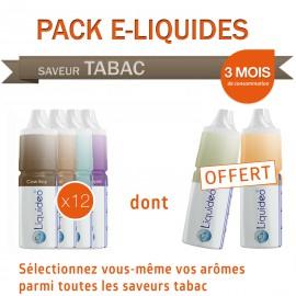 Pack 3 mois saveur Tabac dont 2 gratuits