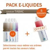 Pack 1 mois saveur Tabac + 1 gratuit