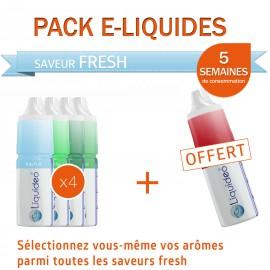 Pack PROMO 5 semaines saveur Fresh dont 1 gratuit